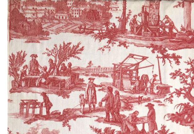 The backstory on toile - Chambre toile de jouy ...