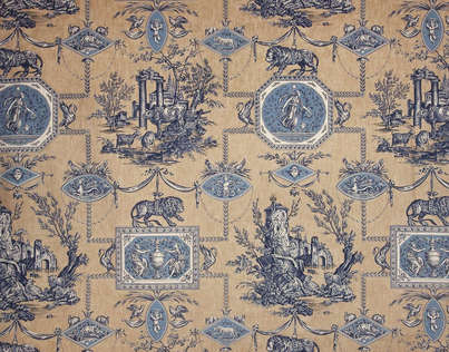 The backstory on toile - Toile de jouy papier peint ...