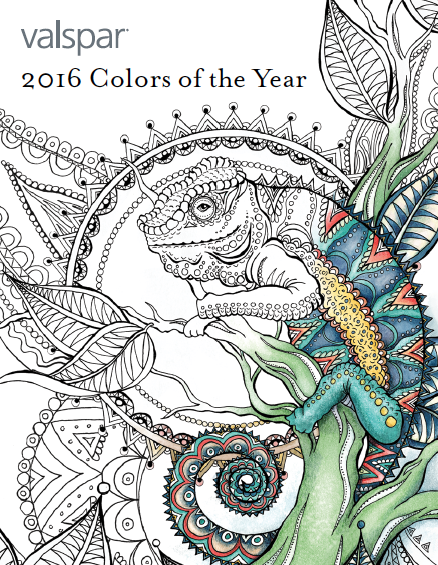The Four 2016 Trend Palettes Are Defined As Comfort Zone Simply Perfect You Do And Good Company Genius Can Download Coloring Book HERE