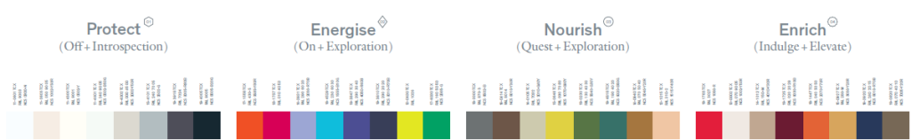wellbeing color palette