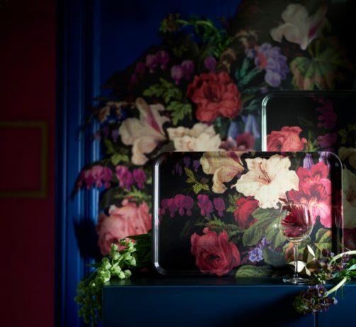 dark floral maximalism
