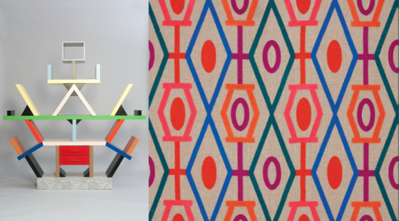 Carlton Divider by Sottsass and Cartoon by Boussac