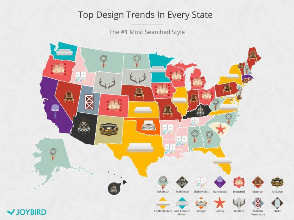 Top Design Trends by State